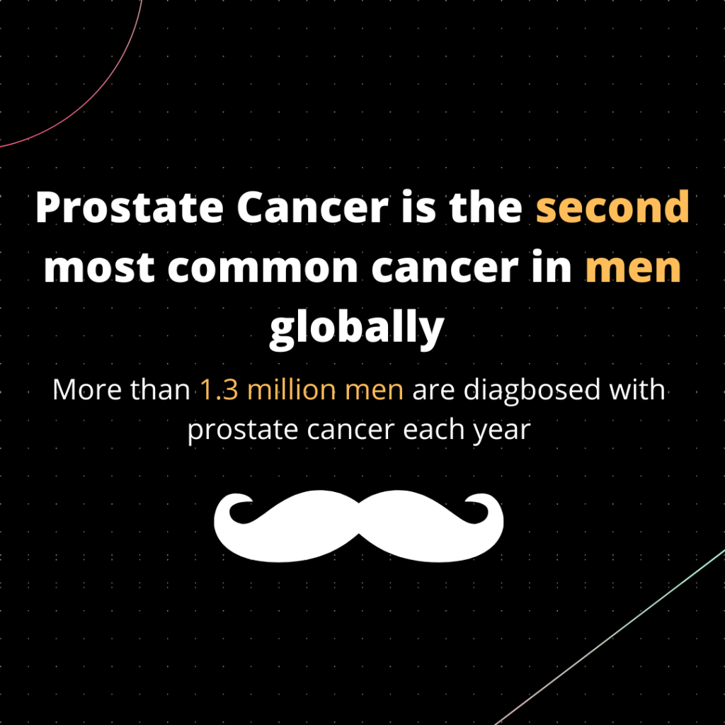 Movember campaign that spreads awareness of the state of men's health including prostate and testicular cancer.