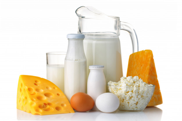 Dairy foods are a healthy option to maintain nutrients in your diet. They are high in protein, vitamin D, and calcium.