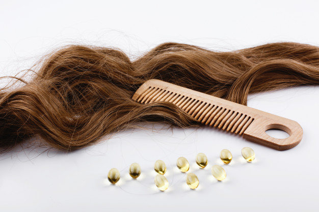 Vitamin E Capsules help to create a promising hair serum or hair mask.