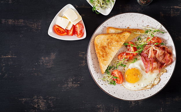 Breakfast foods are high in essential nutrients including folate, calcium, iron,  vitamin B, and fibre.