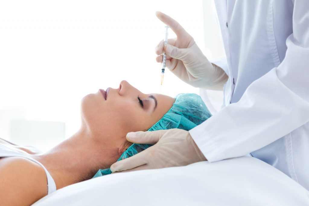Botox being performed by a certified cosmetic professional