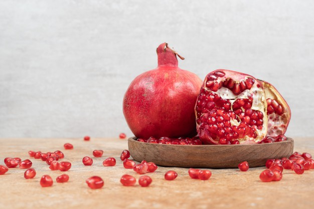 Pomegranate contains the most amount of antioxidants any fruit can ever have.
